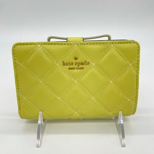 Kate Spade Medium Compact Bifold Wallet FrostyLime